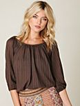 Pointelle Peasant Top
