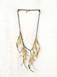 Brass Feather Bib
