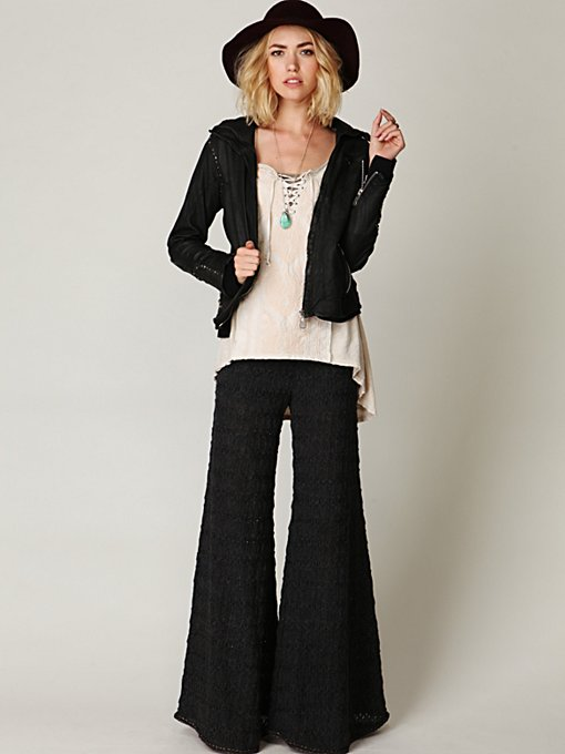 Free People FP Textured Knit Extreme Flare in wide-leg-pants
