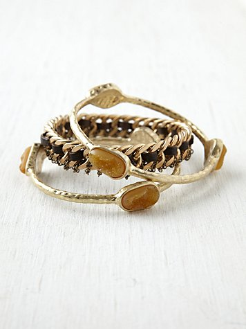 Druzy Moto Chain Bangle Pack