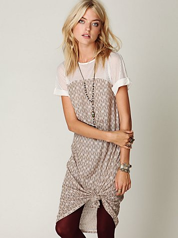 Tribal Gold Short Sleeve Dress