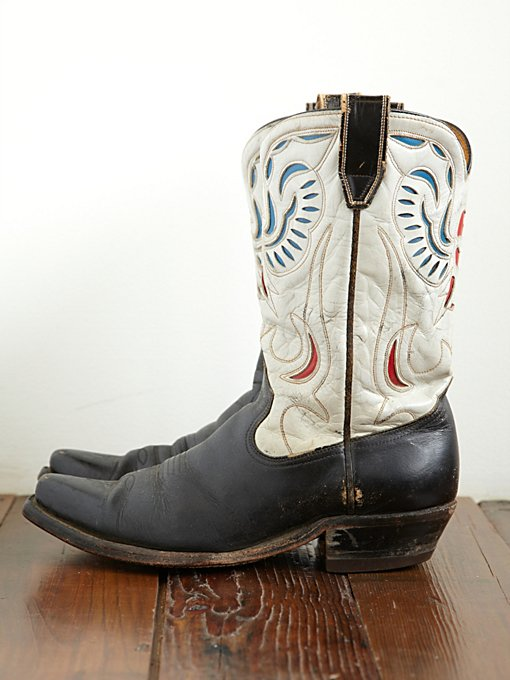 Free People Vintage 1950s Eagle Design Acme Western Boot in vintage-shoes