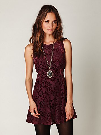 Dancing Pretty Velvet Dress