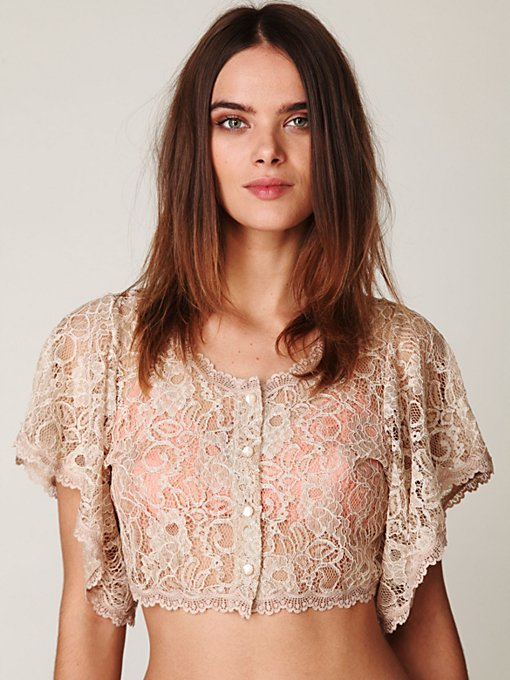 Lace Bed Jacket