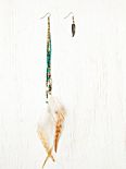 Feather Beaded Shoulder Duster