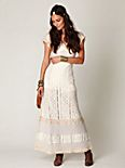 Crochet Short Sleeve Maxi Dress