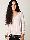 Lace Trim Antique Long Sleeve Top