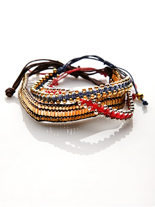 Free People Studded Bracelet Set in jewelry