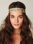 Embroidered in Floral Headband