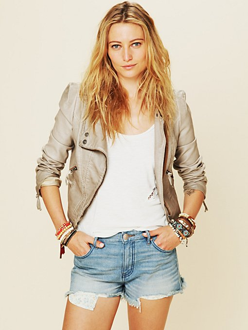 Free People Double Breasted Vegan Leather Jacket in faux-leather-jackets