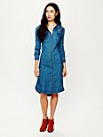Linen Chambray Shirtdress