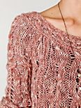 Fluted Cable Pullover