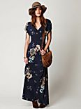 Stardust Short Sleeve Maxi Dress