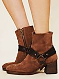 Hook Suede Ankle Boot