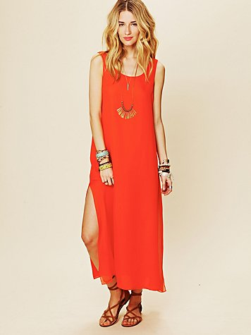 Miguelina Whitney Chiffon Tank Dress