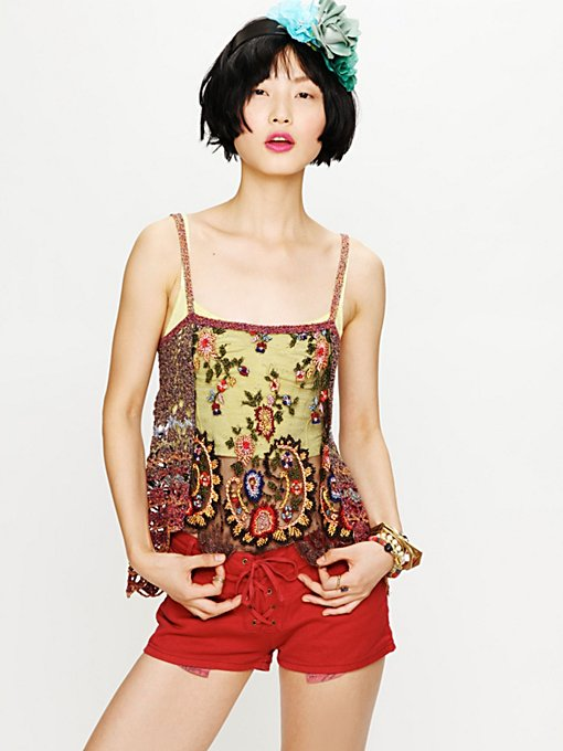 Spun Embroidered Cami