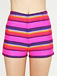 High Waisted Baja Stripe Shorts