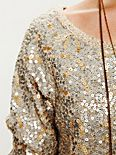 Sequin Cropped Pullover