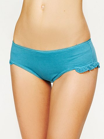 Intimately Free People Eyelet Ruffle Boyshort
