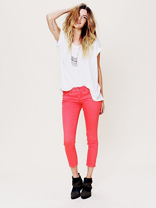 Free People 5 Pocket Ankle Crop in Skinny-Pants