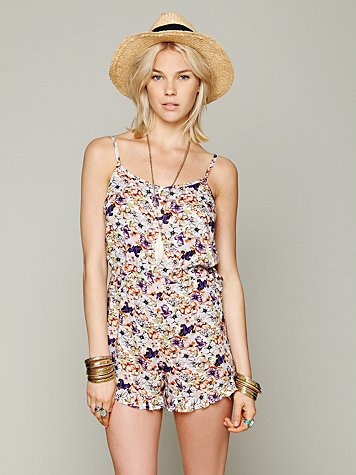 Intimately Free People Printed Romper