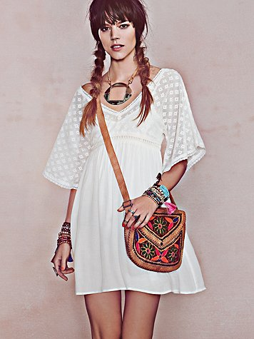 Free People Ethnic Lace Dress