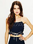 Viscose Petal Crop Top