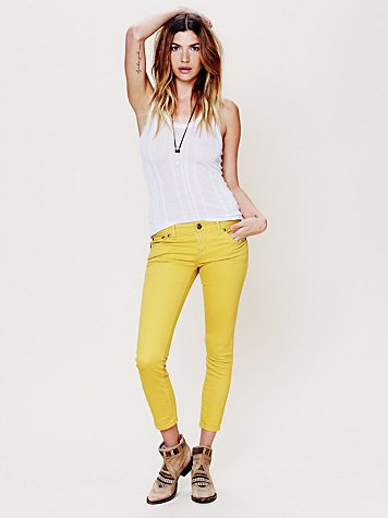 Free People Colored Ankle Crop