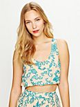 Crop Paisley Bubble Top