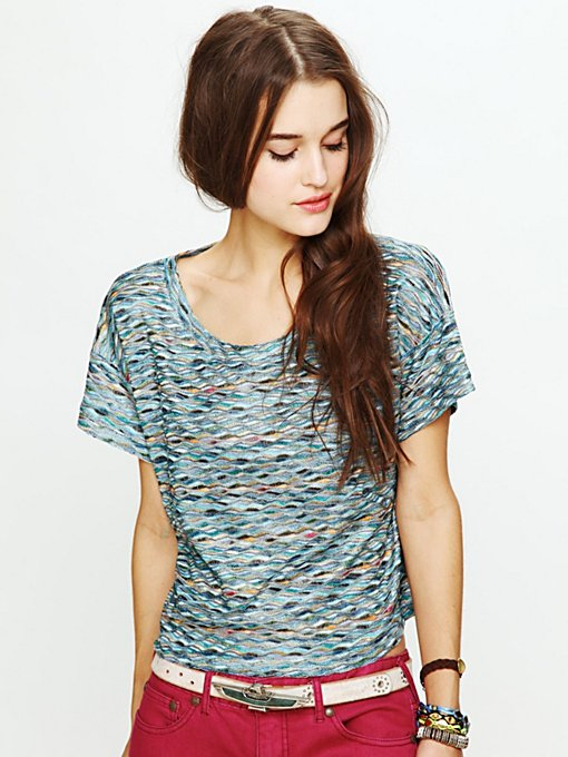 Rainbow Wave Boxy Top
