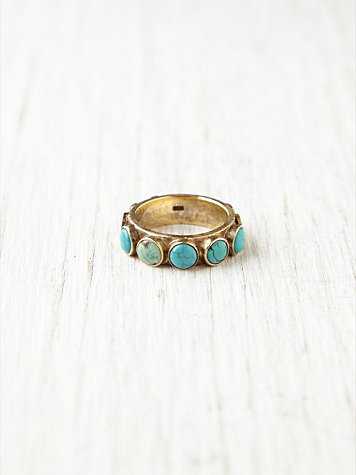 Turquoise Studded Wrap Ring