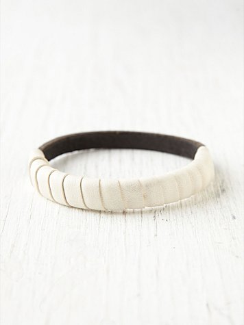 Wrapped Leather Bangle