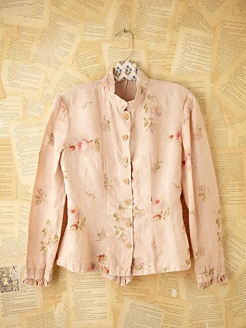 Free People Vintage Dusty Rose Top