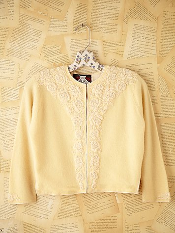 Free People Vintage Cropped Sweater
