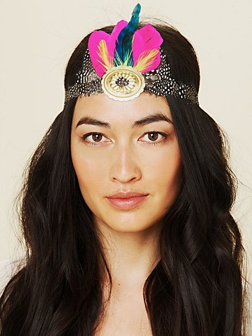Free People Gilded Feather Headdress