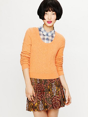 Free People Mini Cables Pullover