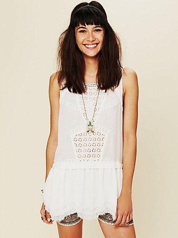 Free People Sleeveless Eyelet Tunic