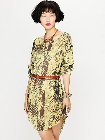 Sam & Lavi Urbi Printed Long Sleeve Dress