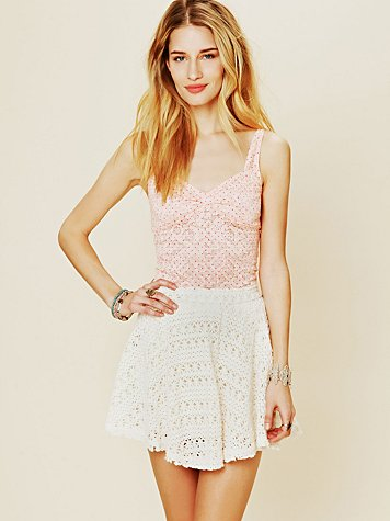 Dot Printed Lace Cami