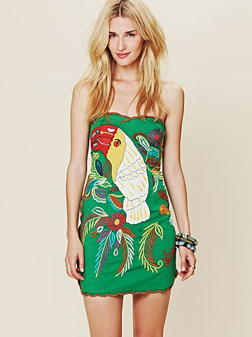 Free People FP New Romantics Parrot Bay Tube Dress