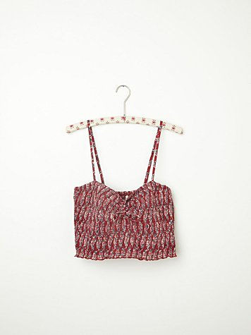 FP ONE Smocked Printed Crop
