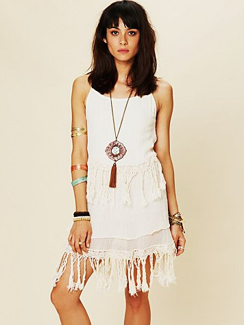 Jen's Pirate Booty Fringe Dream Mini Dress
