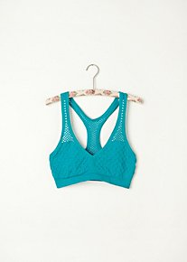 Fishnet Racer Back Bra in Intimates-layering-seamless