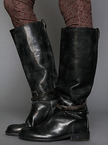 Hollywood Trading Company HTC Bavery Tall Leather Boot