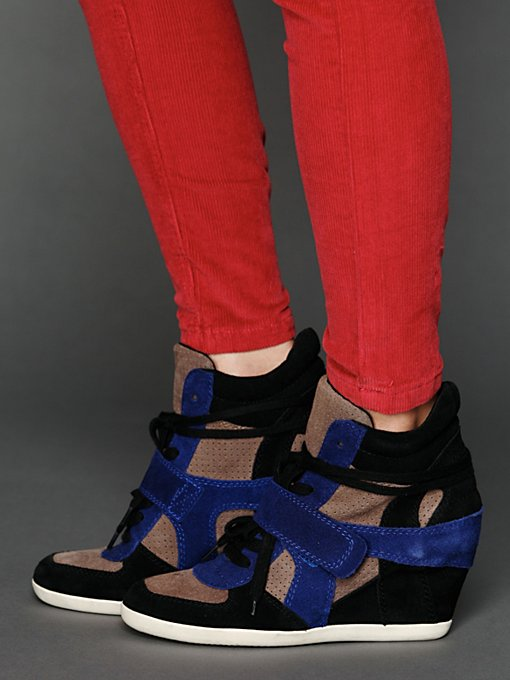 Bowie Multi Strap Wedge Sneaker