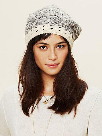 Free People Bow Intarsia Beanie