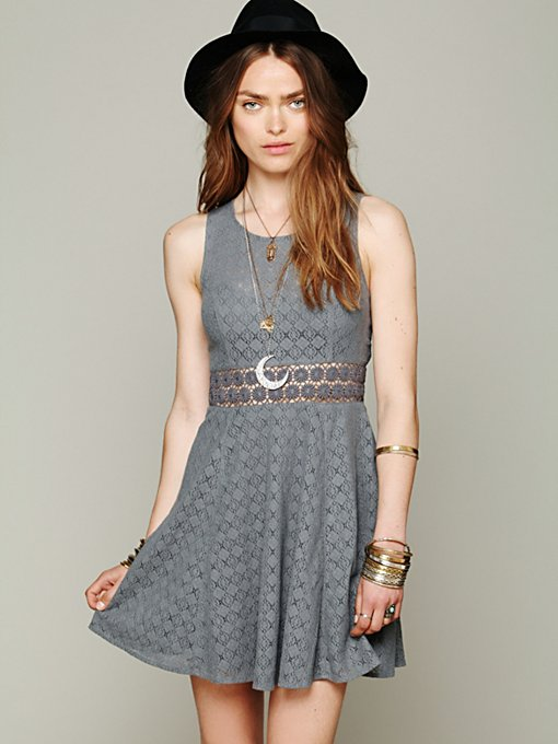 Free People Fitted With Daisies Dress in Day-Dresses