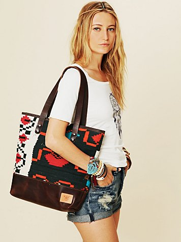Will Leather Dhurrie Tapestry Tote