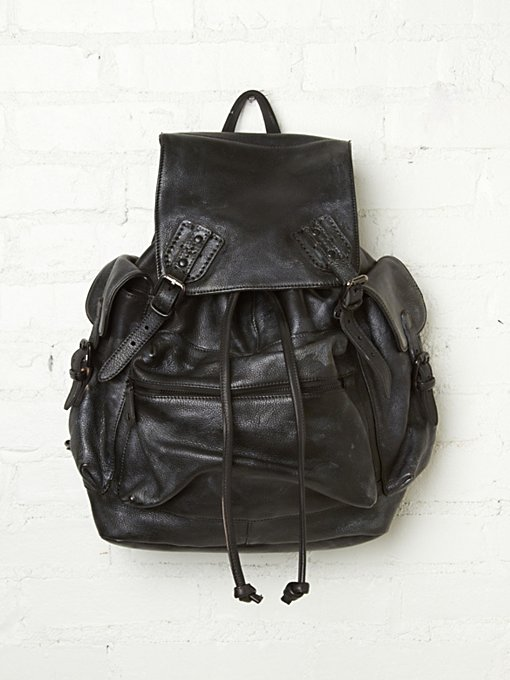 Moto Distressed Backpack