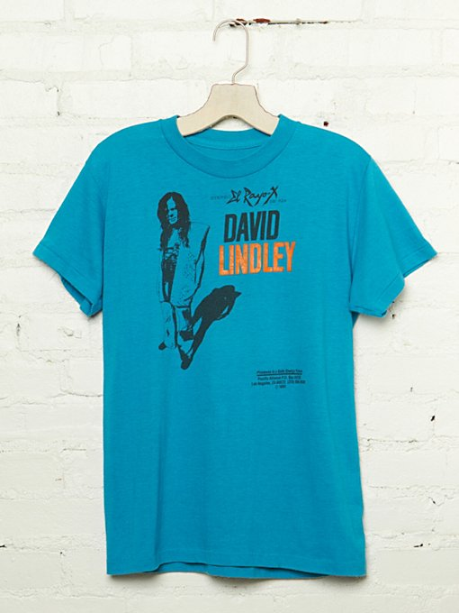 Vintage David Lindley Graphic Tee in Vintage-Loves-vintage-tees